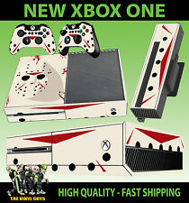 XBOX ONE CONSOLE STICKER JASON VOORHEES MASK BLOODY HORROR SKIN & 2 PAD SKINS
