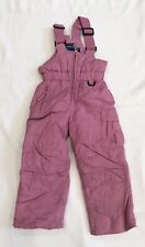 Girls Medium Pink Bib Style Ski Pants By Sportcaster Sz 3T EUC