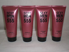 SEXY MEN 555 Shower Gel & After Shave Balm for Men Paris French Brand Lot of 4