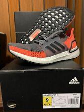 Adidas UltraBOOST 19 m G27517 Size 9 Gray Neon Orange Running Shoes Ultra Boost