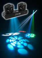 New American DJ ADJ Inno Pocket Spot Twins Dual LED Moving Head Yoke Lights