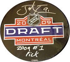 John Tavares islanders Signed 2009 Draft Puck #1 Pick Autograph Frameworth COA