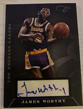 James Worthy 2010-11 Elite Black Box Status Auto Autograph 04/10 Lakers