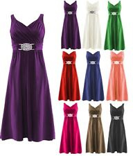 New Women Evening Dress Bridesmaid Buckle Short Elegant Cocktail Plus Size 8-26