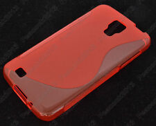 HOUSSE ETUI COQUE SILICONE GEL ROUGE SAMSUNG GALAXY S4 ACTIVE i9295
