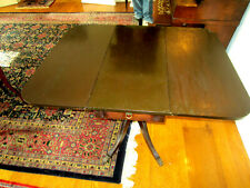 Vintage Duncan Phyfe style one drawer drop leaf mahogany table, circa 1940s