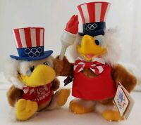 1984 Olympic Mascot Sam the Eagle with Torch & Small Sam Plush Stuffed Applause