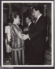 VINTAGE PRESS PHOTO / GOV. RAFAEL HERNANDEZ COLON / PUERTO RICO / 1980's / #23