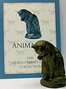 A FRANKLIN MINT CURIO CABINET CAT COLLECTION FIGURINE THE -ANIMALIA- + CERTIFICA