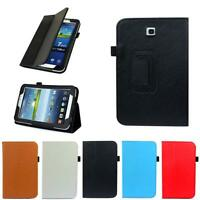 """Folio Leather Case Cover Stand For Samsung Galaxy Tab 3 7.0"""" Tablet P3200 P321"""
