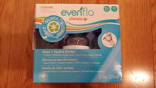 3 Pk Evenflo 4 oz Twist Classic+ Vented Glass Baby Bottles