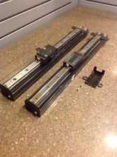 """matched pair linear guides 20"""" long thk sr25 bearing blocks on alum mount"""