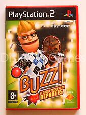 BUZZ EL GRAN CONCURSO DE DEPORTES - PLAYSTATION 2 PS2 PLAY STATION - PAL ESPAÑA