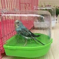 Clean Parrot Bird Bathtub Box Bird Bath Shower Standing New Cage Wash Box I7S5