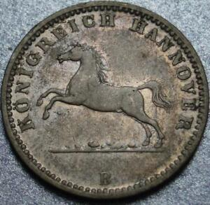 1862 HANNOVER GERMANY Nice Silver GROSCHEN The LAST KING George V >LEAPING HORSE