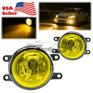 For 2009-2013 Toyota Matrix Pair Fog Light Yellow Lens Replacement OEM Grade T3