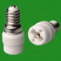 2x Small Edison Screw SES E14 To G9 Light Bulb Adaptor Socket Converter Holder
