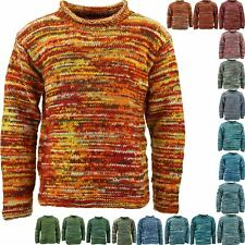 WOOL KNIT SPACE DYE HIPPIE JUMPER FESTIVAL CHUNKY WINTER SWEATER NEPAL
