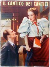 CINEMA ILLUSTRAZIONE SUPP. N.12 1933 CANTICO DEI CANTICI MARLENE DIETRICH FILM