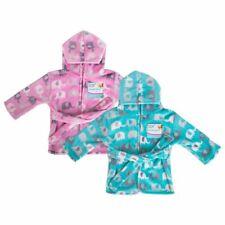 First Steps Baby Kapuzen Bademantel Einheitsgröße Elefant Design Pink Blau