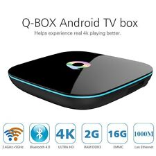 Q-Box 4K Android 5.1 Smart TV Box Quad Core UHD 3D 2GB 16GB Bluetooth Dual Wifi