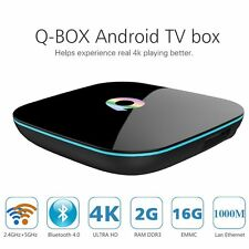Q-Box 4K Android 5.1 Smart TV Box Quad Core UHD 3D 2GB 16GB Bluetooth Dual Wifi