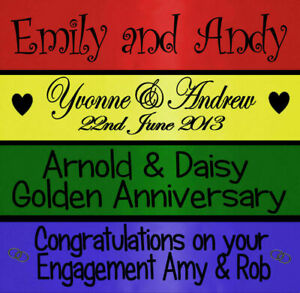 BIRTHDAY WEDDING ENGAGEMENT PARTY BANNER DECORATIONS PERSONALISED