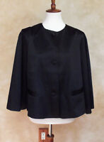 LINEA BY LOUIS DELL'OLIO BLACK LINED JACKET SIZE LARGE