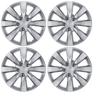 "4-Pack 16"" Hub Caps Silver ABS for 2014 Toyota Corolla Replica Wheel Rim Covers"