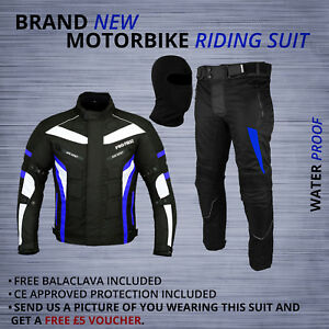 Motorbike Motorcycle Suit Textile Jacket Trouser Waterproof Racing Cordura Suits