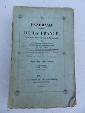 PANORAMA PITTORESQUE DE LA FRANCE TOME I EDT 1840 CARTES ET GRAVURES