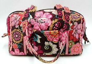 Vera Bradley Handbag Shoulder Travel Toiletry Quilted Mod Floral Pink Retried