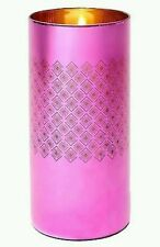 """LILLY PULITZER FOR TARGET HOT PINK 14.5"""" GLASS HURRICANE CANDLE HOLDER BNWT"""