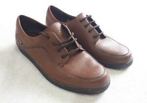Mens Mephisto Shoes, Brown Leather, Eu 9.5 US 10 Moc Toe Mocassins