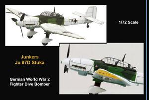 Junkers Ju 87D Winter Stuka German WWII 1944 Airplane Die-cast Rare IXO 1/72 MIB