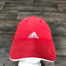 Adidas France Red Strapback Baseball Cap 3 Stripes Adjustable