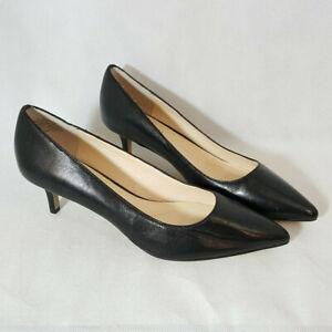 NEW Boutique 9 Pump Heel Sz 8 Black Leather Point Toe