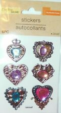 """NEW CRAFTERS SQUARE:  """"BEAUTIFUL  HEART JEWELS 6 PIECES"""""""