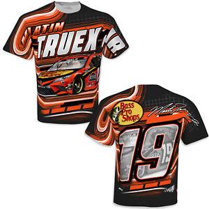 Martin Truex, Jr. 2021 #19 Bass Pro Racing Red Sublimated Shirt New