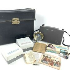 Vintage Polaroid 340 Instant Film Camera With Case Flash Bulbs Manual Timer