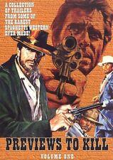 PREVIEWS TO KILL 30 Spaghetti Western Trailers DVD NEW Ringo Sartana Django
