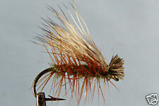 1 x Mouche Sèche Sedge Poils de Cerf H10/12/14/16 truite fly fishing trout deer