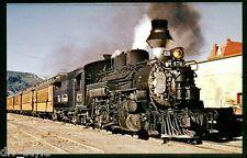 Denver & Rio Grande Western ALCO steam locomotive #476 postcard train railroad