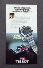 G458 - Advertising Pubblicità - 1980 - TISSOT F1 , COSA NE PENSA Mr. CHAPMAN ?