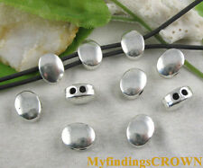 30pcs Tibetan silver 2 holes oval spacer beads FC8676