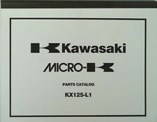 GENUINE KAWASAKI KX125-L1 PARTS LIST CATALOG 1999