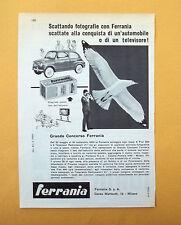 D052 - Advertising Pubblicità - 1959 - EURA FERRANIA GRANDE CONCORSO