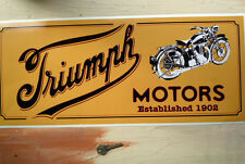 TRIUMPH MOTORS 1902  Motorcycles SALES & SERVICE  Workshop Garage Sign Sticker
