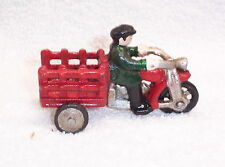 CAST IRON  MOTORCYCLE SERVI-CAR,TRIKE WLA HARLEY JD, VL - INDIAN - HARLEY
