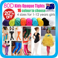 GIRLS KIDS TIGHTS PANTYHOSE HOSIERY OPAQUE STOCKINGS for  BALLET DANCE 80D